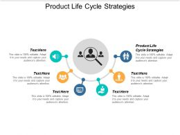 Product Life Cycle Strategies Ppt Powerpoint Presentation Slides Example Cpb