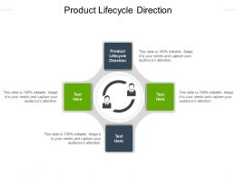 Product Lifecycle Direction Ppt Powerpoint Presentation Pictures Visuals Cpb