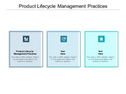Product Lifecycle Management Practices Ppt Powerpoint Presentation Model Cpb