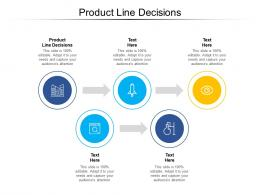 Product Line Decisions Ppt Powerpoint Presentation Portfolio Model Cpb