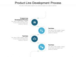 Product Line Development Process Ppt Powerpoint Presentation Professional Example Cpb