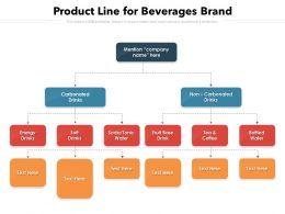 Product Line For Beverages Brand