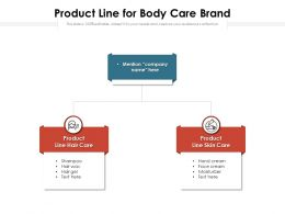 Product Line For Body Care Brand