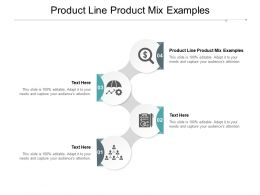 Product Line Product Mix Examples Ppt Powerpoint Presentation Layouts Designs Cpb