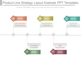 Product Line Strategy Layout Example Ppt Templates
