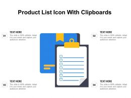 Product List Icon With Clipboards