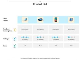 Product List Planning Strategy Ppt Infographics Example Introduction