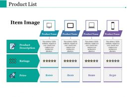 Product List Ppt Powerpoint Presentation File Introduction