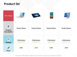 Product List Price Server Mobile Ppt Powerpoint Presentation File Slideshow