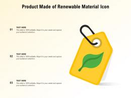 Product Made Of Renewable Material Icon