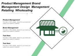 Product Management Brand Management Design Management Retailing Wholesaling