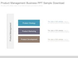 Product Management Business Ppt Sample Download