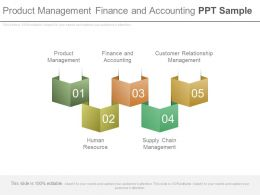 Product Management Finance And Accounting Ppt Sample
