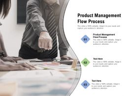 Product Management Flow Process Ppt Powerpoint Presentation Slides Rules Cpb