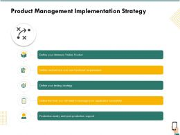 Product Management Implementation Strategy Requirements Ppt Templates