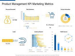 product management KPI marketing metrics factor strategies for customer targeting ppt diagrams