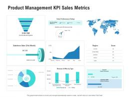 Product Management KPI Sales Metrics Competitor Analysis Product Management Ppt Pictures