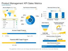 Product Management KPI Sales Metrics Product Channel Segmentation Ppt Summary