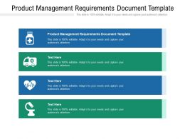 Product Management Requirements Document Template Ppt Powerpoint Presentation Inspiration Cpb
