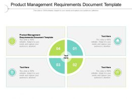 Product Management Requirements Document Template Ppt Presentation Icon Master Cpb
