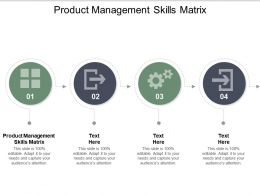 Product Management Skills Matrix Ppt Powerpoint Presentation Outline Diagrams Cpb