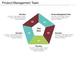Product Management Team Ppt Powerpoint Presentation Gallery Images Cpb