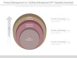 Product Management Vs Portfolio Management Ppt Samples Download