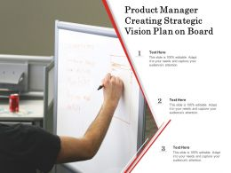 Product Manager Creating Strategic Vision Plan On Board