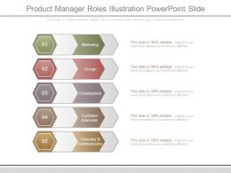 Product Manager Roles Illustration Powerpoint Slide