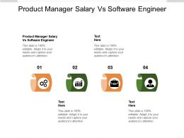 Product Manager Salary Vs Software Engineer Ppt Presentation Background Cpb