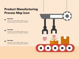 Product Manufacturing Process Map Icon
