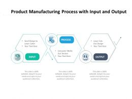 Product Manufacturing Process With Input And Output