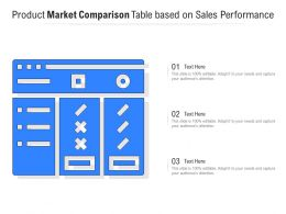 Product Market Comparison Table Based On Sales Performance
