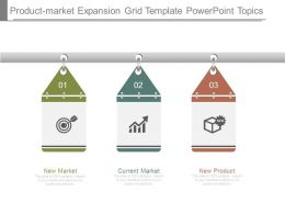 Product Market Expansion Grid Template Powerpoint Topics