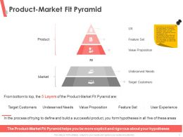 Product Market Fit Pyramid These Areas Ppt Powerpoint Presentation Show Format Ideas