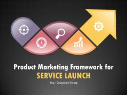 Product Marketing Framework For Service Launch PowerPoint Presentation With Slides Go To Market