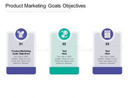 Product Marketing Goals Objectives Ppt Powerpoint Presentation Summary Diagrams Cpb