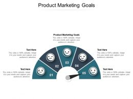 Product Marketing Goals Ppt Powerpoint Presentation Styles Designs Download Cpb