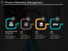 Product Marketing Management Ppt Powerpoint Presentation Portfolio Background Cpb