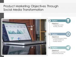 Product Marketing Objectives Through Social Media Transformation