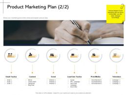 Product Marketing Plan Cheat Sheet Ppt Powerpoint Presentation Styles Example