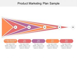 Product Marketing Plan Sample Ppt Powerpoint Presentation Gallery Ideas Cpb