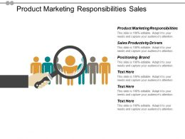Product Marketing Responsibilities Sales Productivity Drivers Positioning Brand Cpb