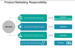Product Marketing Responsibility Ppt Powerpoint Presentation Summary Ideas Cpb