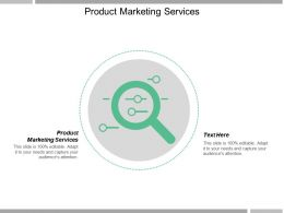 Product Marketing Services Ppt Powerpoint Presentation Gallery Styles Cpb