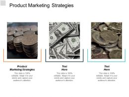 Product Marketing Strategies Ppt Powerpoint Presentation Model Design Templates Cpb