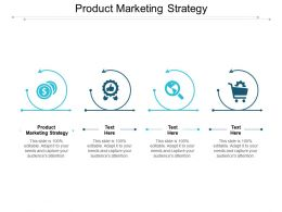 Product Marketing Strategy Ppt Powerpoint Presentation Infographic Template Vector Cpb