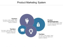 Product Marketing System Ppt Powerpoint Presentation Slides Cpb