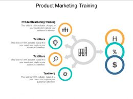 Product Marketing Training Ppt Powerpoint Presentation Gallery Show Cpb