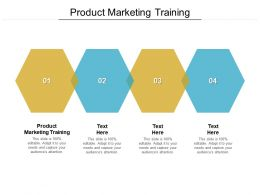 Product Marketing Training Ppt Powerpoint Presentation Show Model Cpb